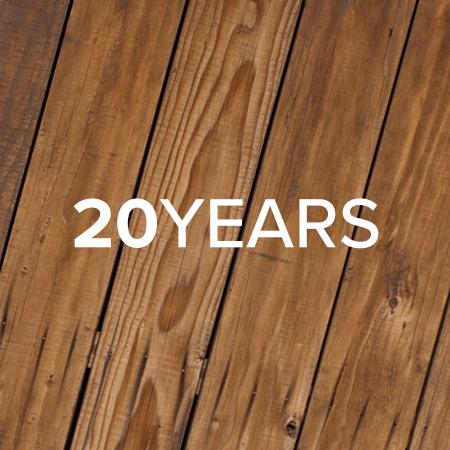20年以上の耐久性
