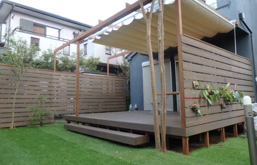 お庭を部屋のようなプライベート空間に!